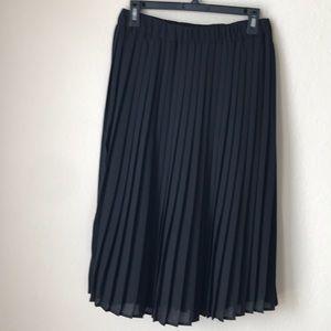 Cynthia Rowley sheer pleated skirt